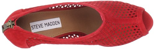 Suede toe Open Red Steve Madden Pompa Hawkins xfqwxgYP