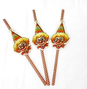 Clown Party Theme Accessories (Clown Straws)