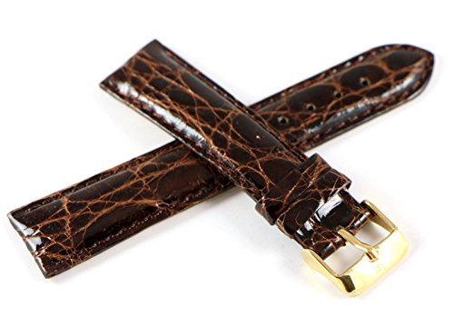 (Lucien Piccard 20MM Genuine Crocodile Leather Watch Strap Band 7.5
