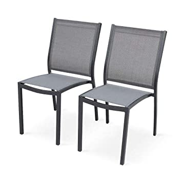 2 de chaises Lot Garden Orlando Alice's AnthraciteGris CxoedBWr