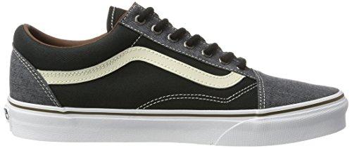 Vans Old Skool, Zapatillas de Entrenamiento para Hombre Negro (Black/blackt/h)