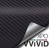 Automotive : VViViD XPO Black Carbon Fiber 5ft x 9ft Car Wrap Vinyl Roll with Air Release Technology