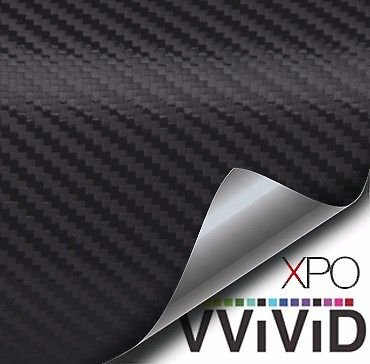 VViViD XPO Black 3D Carbon Fiber 5ft x 5ft 25sq ft Cast Vinyl Decal New Bubble-Free Car Wrap