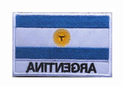 ShowPlus Argentina AR Flag Military Embroidered Tactical Velcro Patch Morale Shoulder ()
