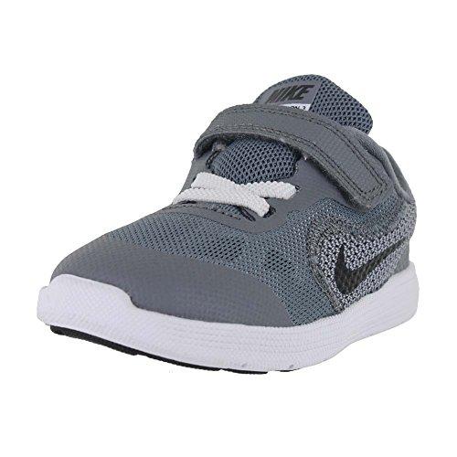 NIKE Boy's Revolution 3 (TDV) Athletic Shoe, cool grey/black-white-wolf grey, 10 M US