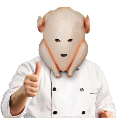 Accoutrements Clumsy Cook Turkey Mask (Chicken Head Mask)