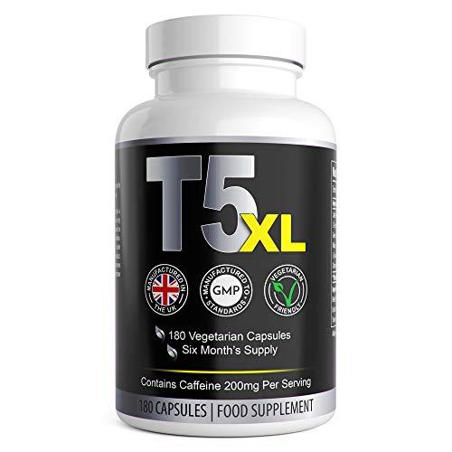 T5 XL Fat Burners | Vegetarian Safe T5 Slimming Pills | Keto Tablets for Men & Women 180 Capsules 6 Month Supply | UK…