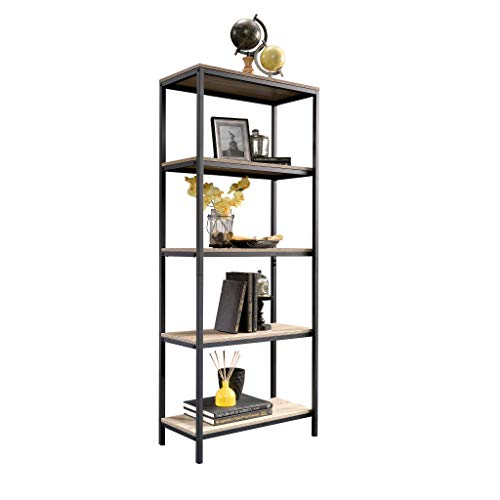 "Sauder 420277 North venue Tall Bookcase, L: 23.47"" x W: 11.61"" x H: 56.77"", Charter Oak finish"