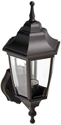 Boston Harbor 5397971 Dimmable Outdoor Lantern, (1) 60/13 W Medium A19/CFL Lamp, Black