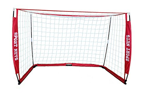 (Sport Nets Portable Soccer Goal - Portable Bow Frame Soccer Net with Carry Bag - 12 x 6)