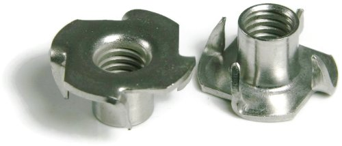 T-Nuts 18-8 Stainless Steel - #10/32 x 9/32 Barrel Lgth x 3-Prong (25/PCS) by RAW PRODUCTS CORP