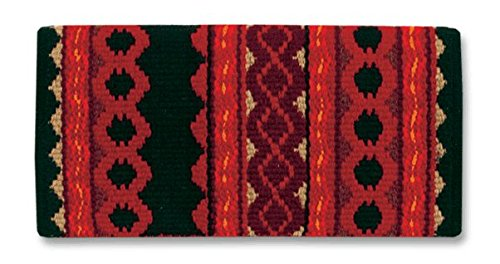 Mayatex Riverland Saddle Blanket, Black/Red Earth/Burgundy, 36 x 34-Inch