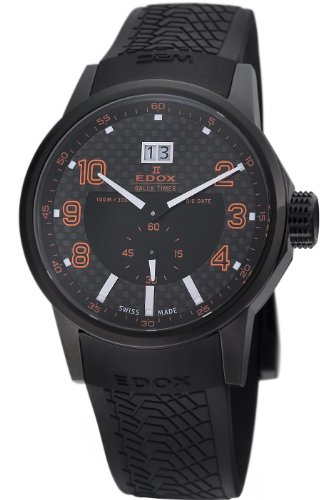 Edox Men's 64008 37N NOR WRC Big Date Black Dial Watch