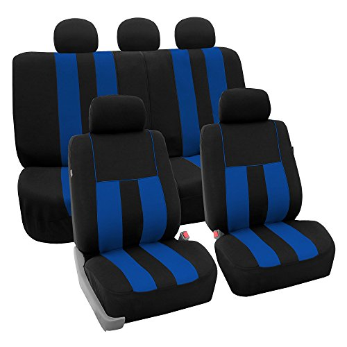 FH Group FB036BLUE115 Seat Cover (Airbag Compatible and Split Bench Blue) ()