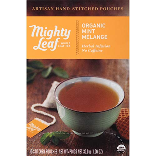 Mighty Leaf Tea Organic Mint Melange Hand-Stitched Tea Bags, 15 ct