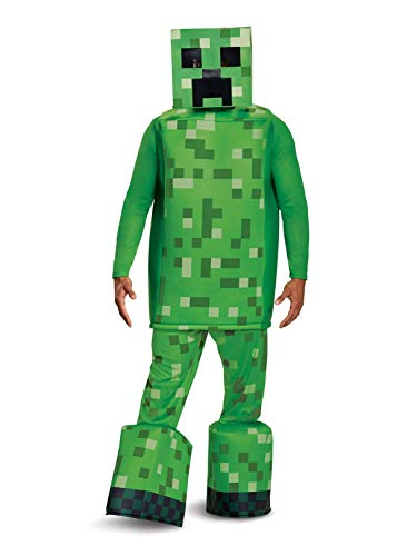 Minecraft Costume Creeper (Disguise Men's Creeper Prestige Adult Costume, Green, One)