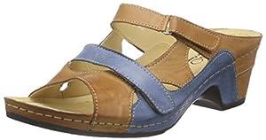 Florett Selma, Damen Pantoletten, Mehrfarbig (520/braun-blau), 40 EU
