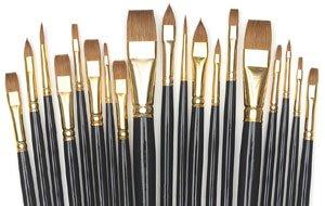 Silver Brush JHS-510 John Howard Sanden Red Sable Atelier Brush Set, 19 Per Pack