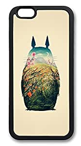 iPhone 6 Cases, Totoro Art Print Durable Soft Slim TPU Case Cover for iPhone 6 4.7 inch Screen (Does NOT fit iPhone 5 5S 5C 4 4s or iPhone 6 Plus 5.5 inch screen) - TPU Black