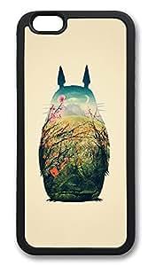 iPhone 6 Cases, Totoro Art Print Durable Soft Slim TPU Case Cover for iPhone 6 4.7 inch Screen (Does NOT fit iPhone 5 5S 5C 4 4s or iPhone 6 Plus 5.5 inch screen) - TPU Black WANGJING JINDA