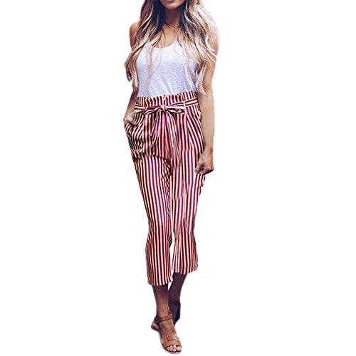 donna ragazza fit eleganti beautyjourney Stripe harem Rosso tumblr alta harem jogger Chino vita Donna donna Pantaloni pantalone Pantaloni donna ginnastica slim elegante pantaloni Z6wwxEq5rg