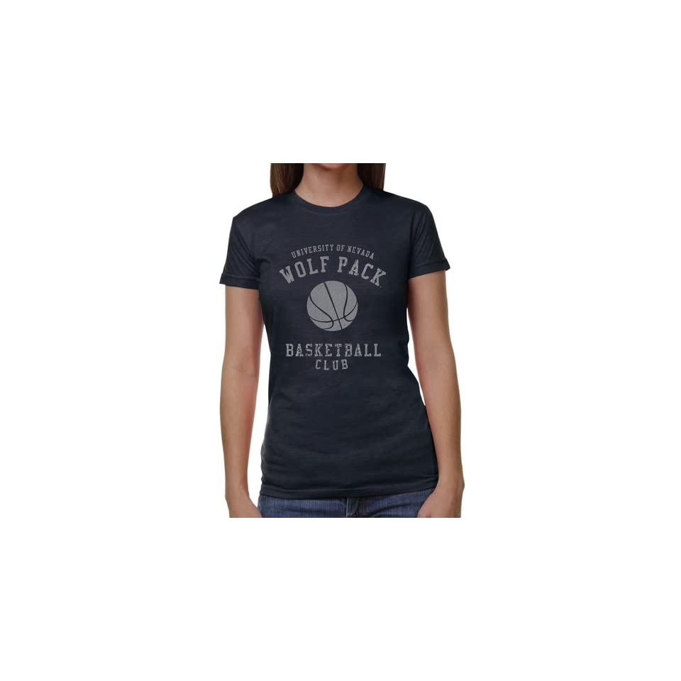 Nevada Wolf Pack Ladies Club Juniors Tri Blend T Shirt   Navy Blue