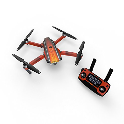 Hot Rod Decal for Drone DJI Mavic Pro Kit - Includes Drone Skin, Controller Skin and 3 Battery Skins ()
