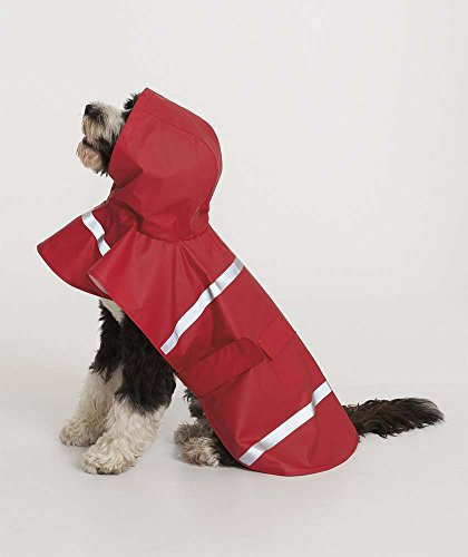 Aqua Leash - New Englander Waterproof DOGGIE Rain Coat / Jacket by Charles River Apparel Aqua Size Large