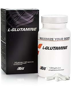 L-GLUTAMINA * 570 mg / 120 cápsulas vegetales * Pureza garantizada al 99 % * Única forma biológicamente activa de la glutamina * Mejora la recuperación muscular después del ejercicio * Fabricado en Francia * Calidad controlada por certificado de análisis * Garantía de satisfacción o reembolso