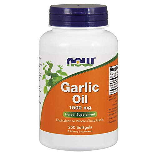(Now Supplements, Garlic Oil 1500 mg, Serving Size Equivalent to Whole Clove Garlic, 250 Softgels)
