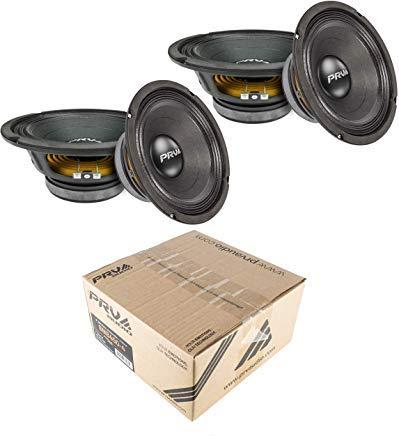 PRV Audio 8MB450-4 8'' Midbass Mid Range Woofer 4 ohms 1800 Watts 96 dB 2'' Voice Coil 2 Pair
