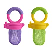 Munchkin 2-Piece Fresh Food Feeder, Purple/Green