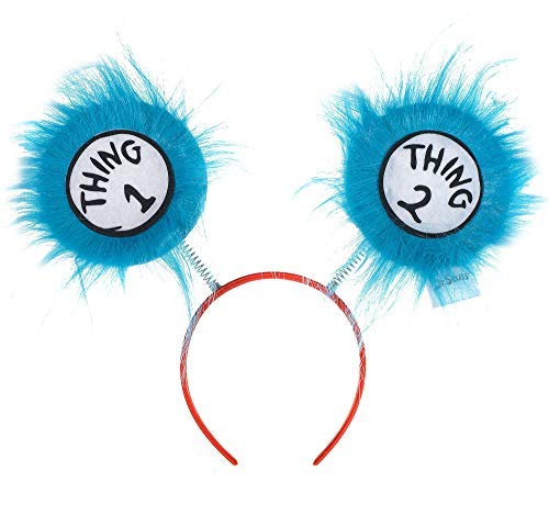Costumes USA Thing 1 and Thing 2 Head Bopper for Kids, Dr. Seuss Costume Accessories, One ()