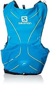 SALOMON ADV Skin 5 Set Mochila para Carrera de montaña, Práctica y Ligera, Capacidad 5 L, SoftFlask incluida, Unisex Adulto