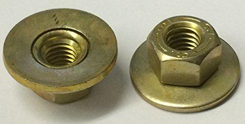 M6-1.0 Free Spinning Washer Nut Zinc & Yellow ()