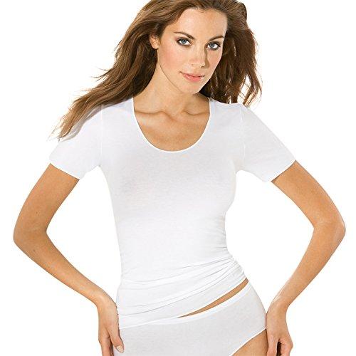 SPEIDEL Damen Unterhemd 1/4 Arm 3er Pack - Y-LOFT 9161 innovative Klimawäsche, Farbe Weiss und Schwarz, Gr. 38-46 Gr. 44, Weiss