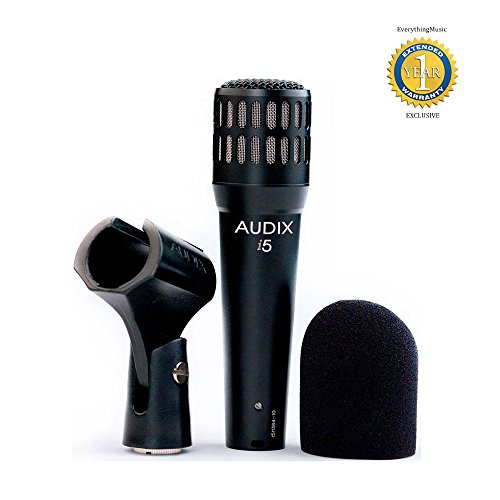 Audix i5 Dynamic Instrument Microphone with 1 Year Free Extended Warranty (Dynamic I5 Instrument)