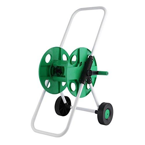 Halorose Portable Garden Water Hose Reel Cart,w/ 2 Wheels,Heavy Duty Yard Water Planting,150ft-Movable-Hose-Reel (Reel 2 Hose Wheel)