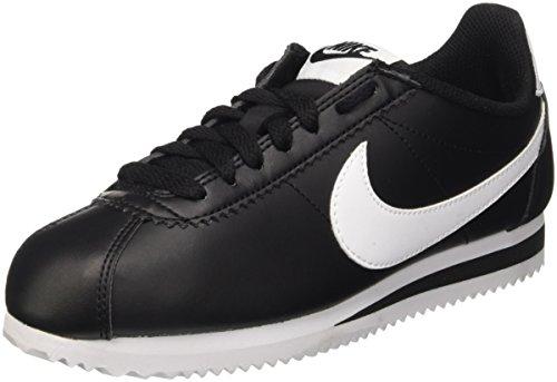 Nike Damen Women's Classic Cortez Leather Shoe Turnschuhe, Schwarz (Black/White/White), 38 EU