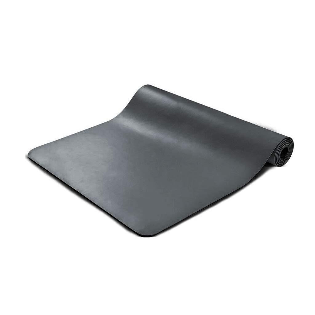 バックパックが付いている自然なPUのゴム製ヨガのマットの滑り止めの防止のフィットネスマット5 Mm  黒 B07P125ZT9
