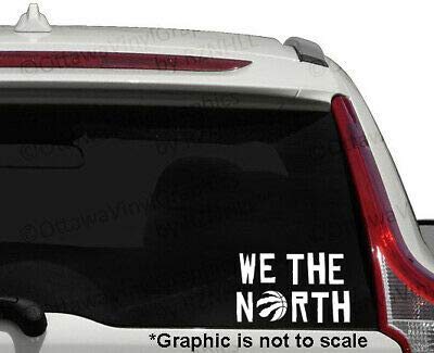 NBA We The North Toronto Raptors Basketball Team decal sticker for car laptop wall