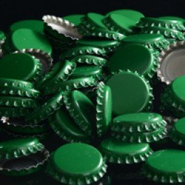 Green Oxygen Absorbing Crown Bottle Caps for Homebrewing - Oxygen For Beer Brewing