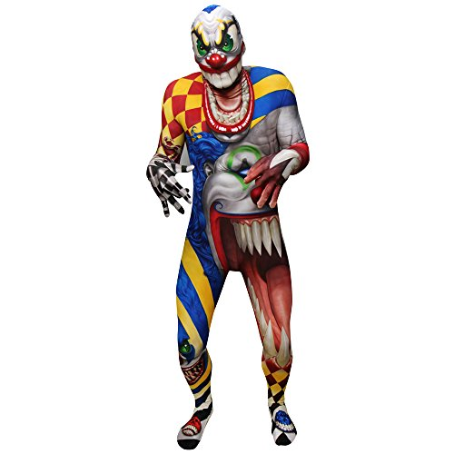 Morphsuits Kids Clown Monster Costume - Large 4'-4'6/10-12 -