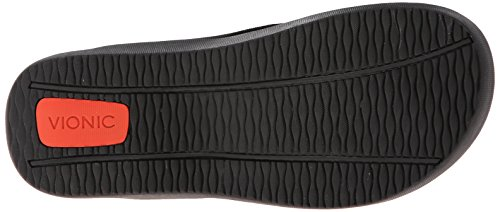 Vionic Unisex Wave Toe Post Sandal, 11 B(M) US Women / 10 D(M) US Men, (Black)