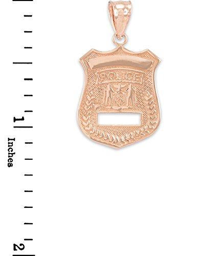 Petits Merveilles D'amour - 10 ct 471/1000 Or Rose-Police-Insigne- Pendentif