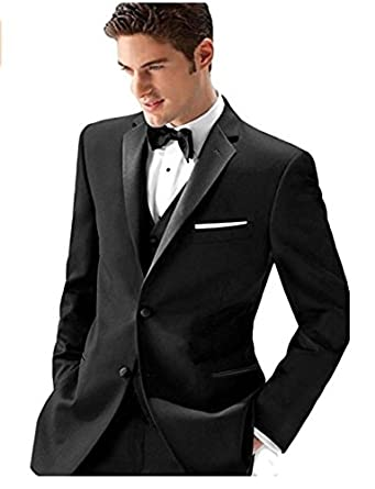 27f9644b6e62ce Ike Behar Slim Fit Notch Lapel Tuxedo at Amazon Men's Clothing store: