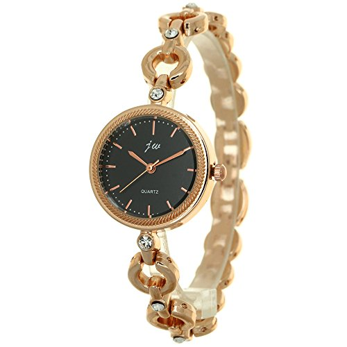 Bracelet Watches for Lady Fashion Dress Gold Charming Circle Chain Style Jewelry Clock Quartz Women Rhinestone Crystal Dress Watch from TimeMax