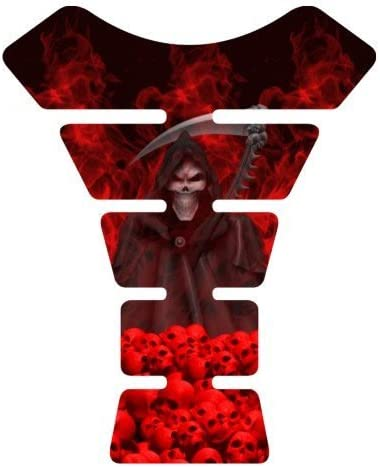 Motorcycle sportbike Grim Reaper Rising red gel Tank Pad tankpad protector