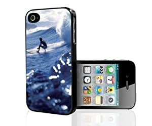 Surfing Blue Waves Hard Snap on Phone Case (iPhone 4/4s)