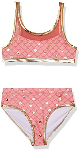 (Jantzen Big Girls' Mermaid Swimsuit, Coral_2, 10)